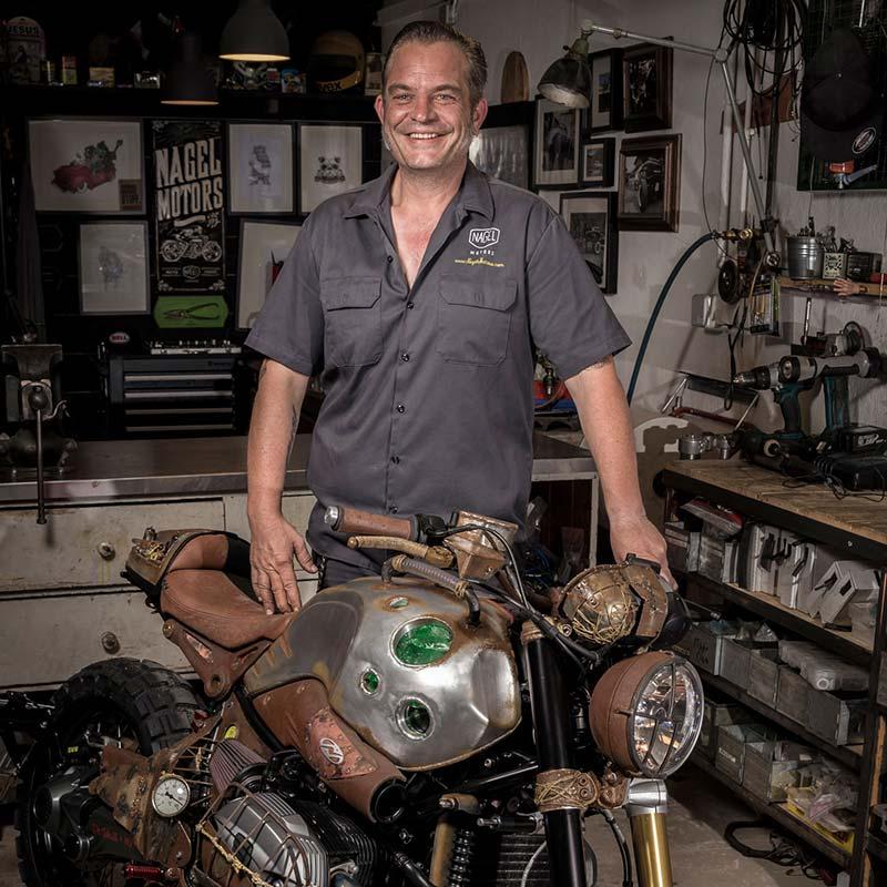 Nagel Motors Scrambler Cafe Racer Vespas